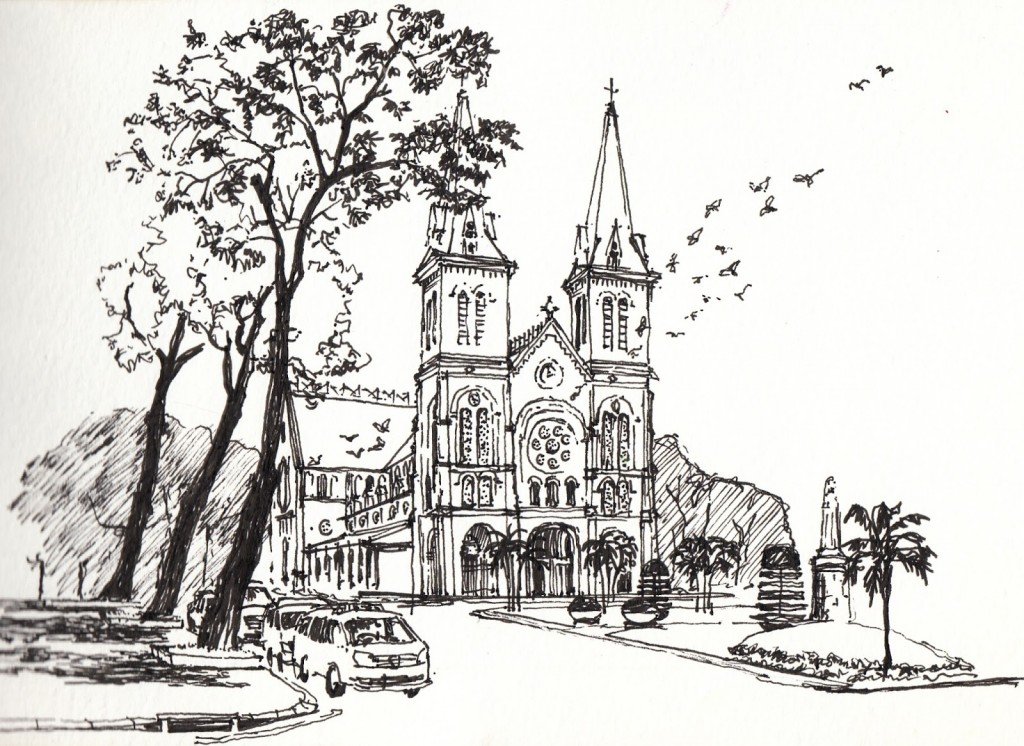 Notre Dame drawing