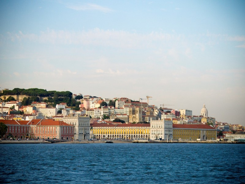 Downtown Lisbon as seen from the river