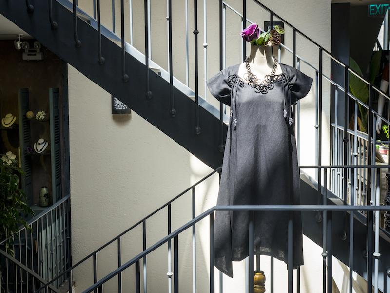 Linen-black dress