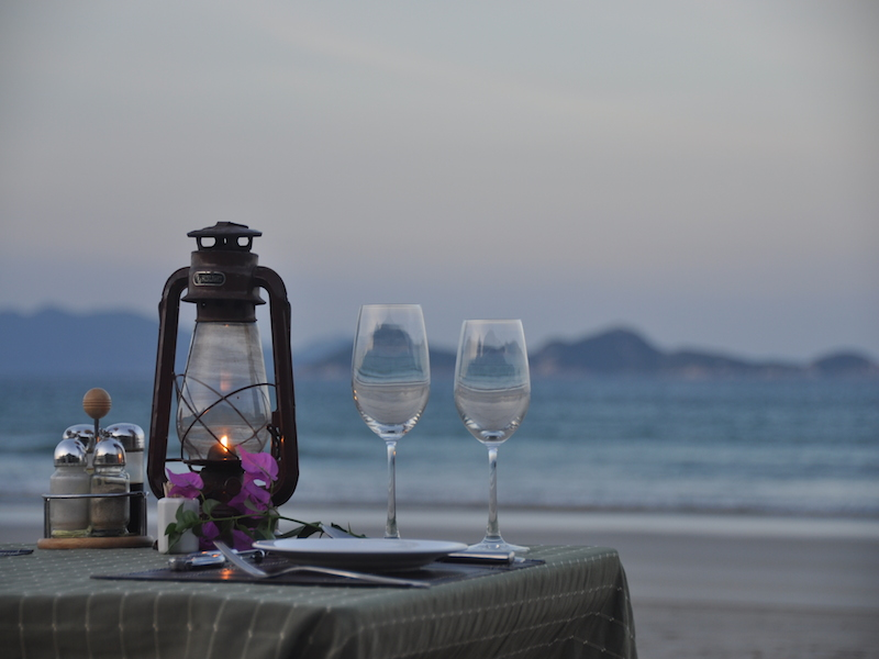 Dining at the Beach  - Provided by Wild Beach