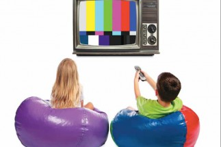 Kids with TV