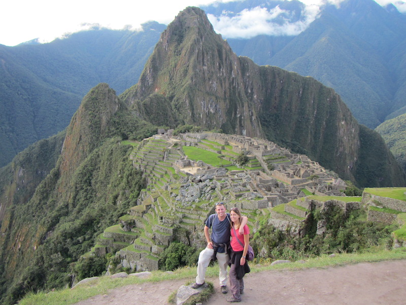 Jeremy and Angie Jones at Machu Picchu, Peru