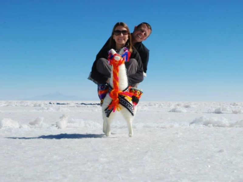 Jeremy and Angie Jones at the Salt Flats, Bolivia