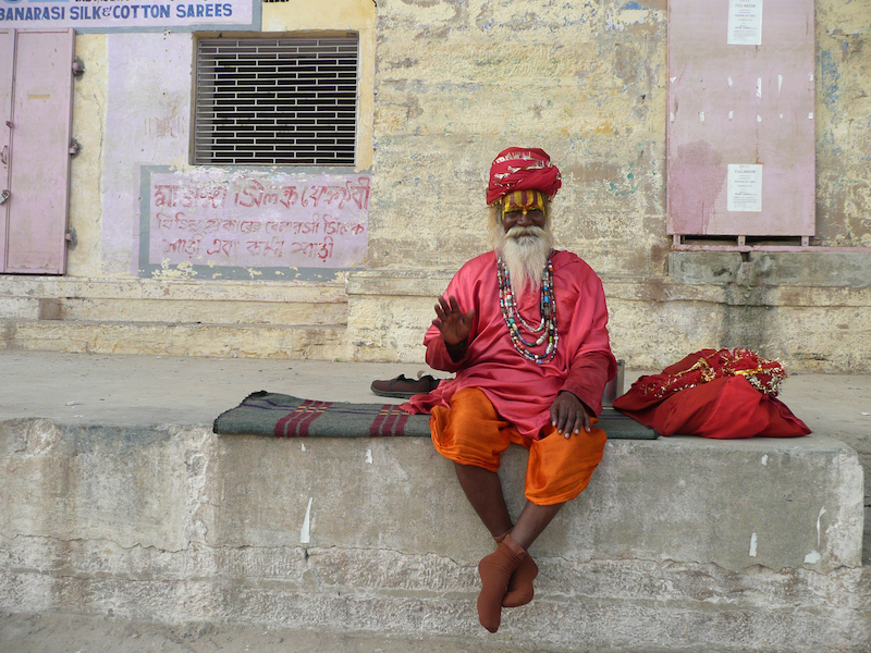 Holy man Varanasi- Photo by Sarah Chamberlain