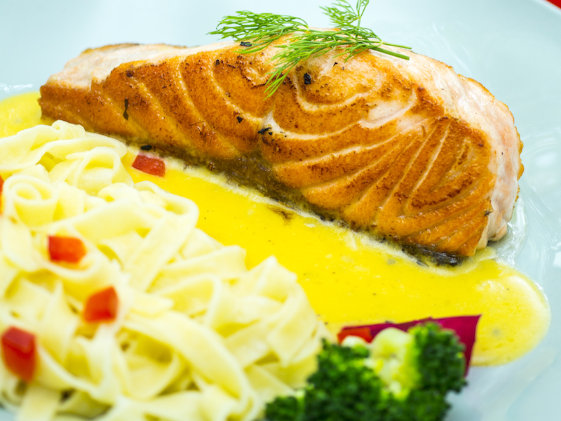 Mach House-Salmon with homemade pasta and cream sauce