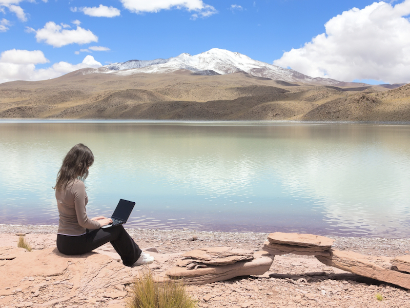 woman-working-by-the-water- Internet source