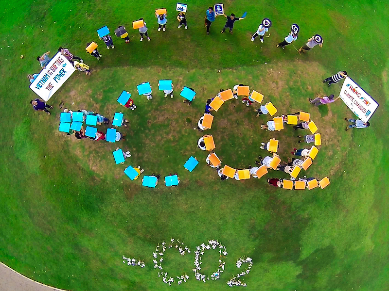 Vietnam Power Shift campaigners - Photo by 350 Vietnam-2