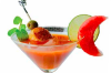 Watermelon seafood martini
