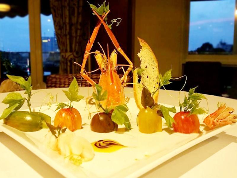 Jack-Lee-Langostine-and-Heirloom-tomato-salad