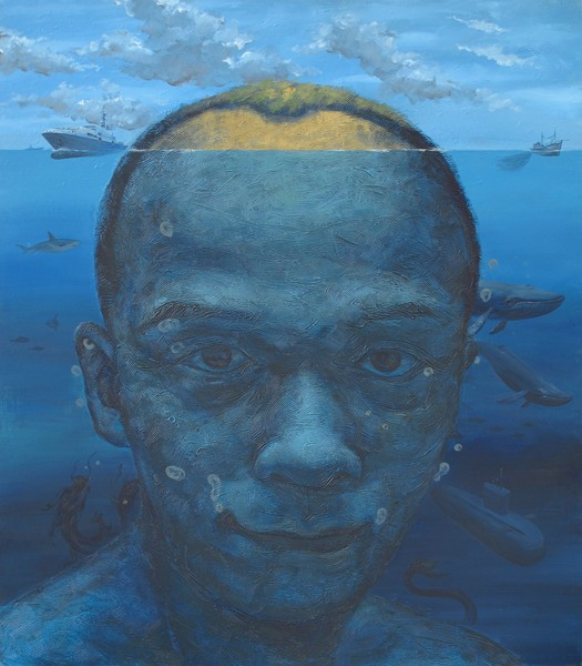 Self Portrait – Deep Blue