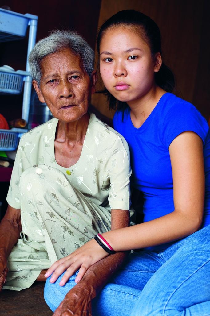 Tini and her grandmother