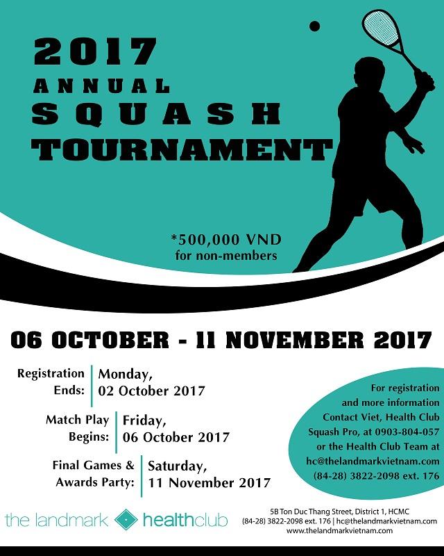 2017 Annual Squash Tournament