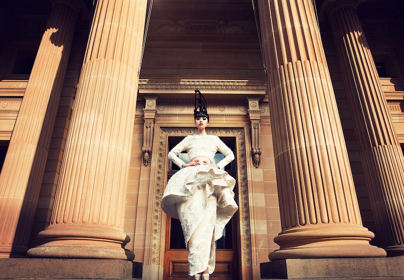 Jessica Minh Anh in Sydney in Azzi & Osta's design - Photo John Oakley