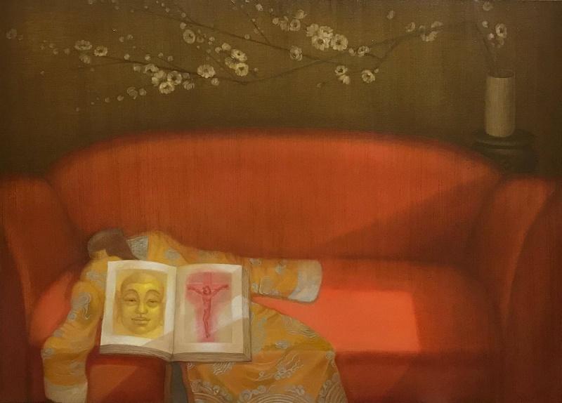 Bui Thanh Tam_Thiên Đường Bỏ Ta Đi - Giấc Mộng Tàn_Abandoned by Heaven - Withered Dream_Sơn dầu trên vải bố_Oil on canvas_90 x 120 cm_2017