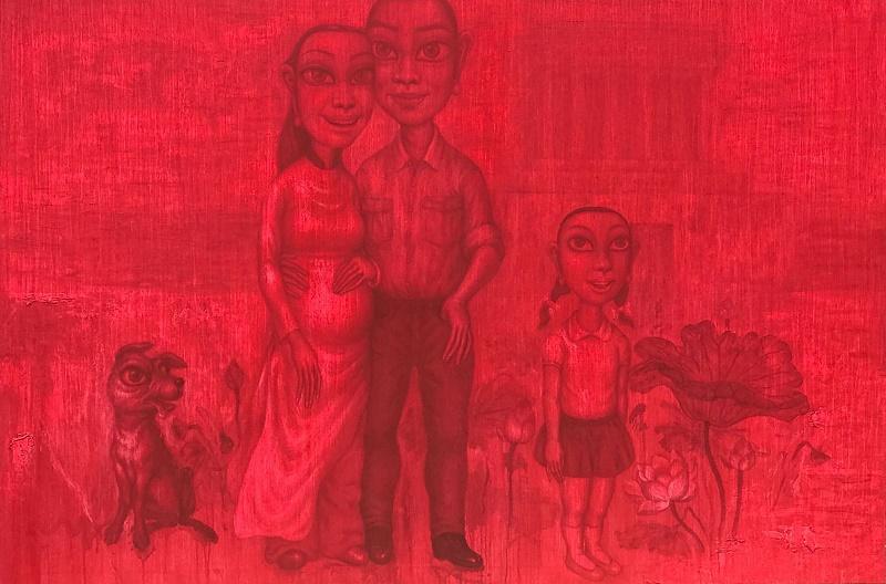 Bui Thanh Tam_Thiên Đường Bỏ Ta Đi - Khi Bình Minh Lên_Abandoned by Heaven - When The Sun Rises_Sơn dầu trên vải bố_Oil on canvas_120 x 180 cm_2017