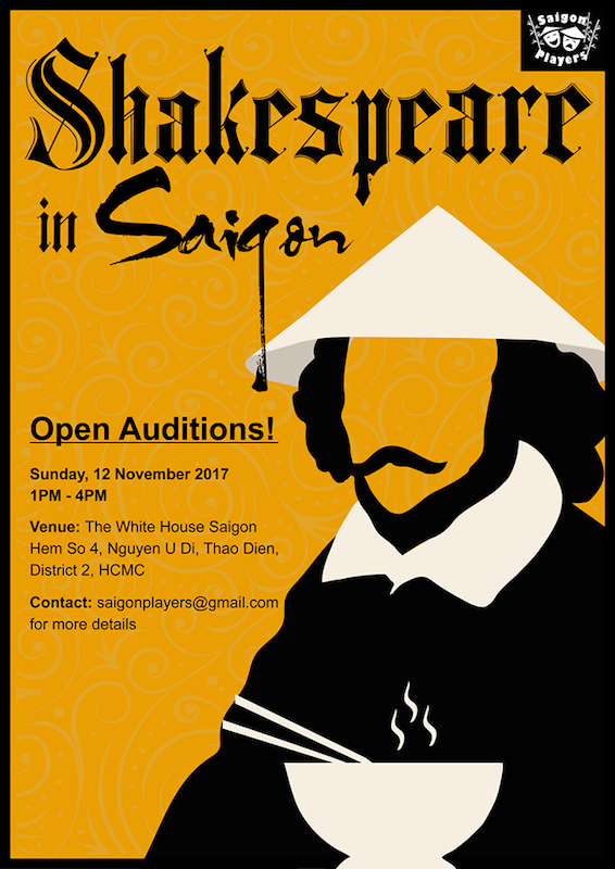 OPEN AUDITIONS for the SAIGON PLAYERS' COMEDY-Shakespeare in Saigon - Oi