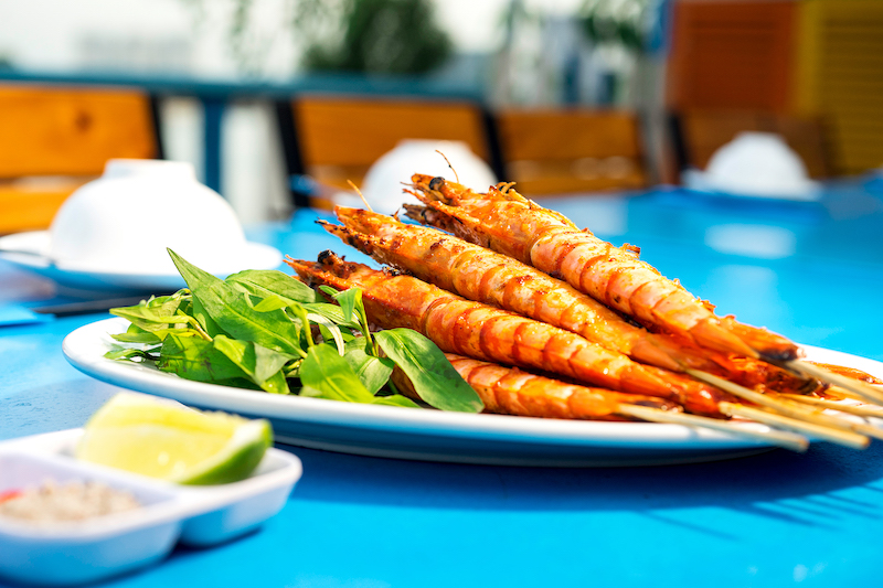 Oi Vietnam - Jan 2018_river restro_Grilled shrimp in Chili Salt_DSC5295_NT