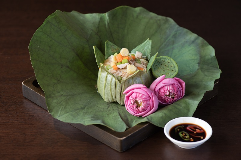 Fried rice in Lotus leaf
