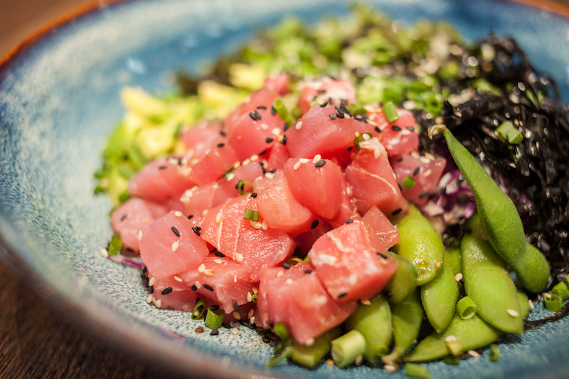 Oi VietNam - East West Brewing - Tuna Poke Salad - July 2018 - IMG_2438
