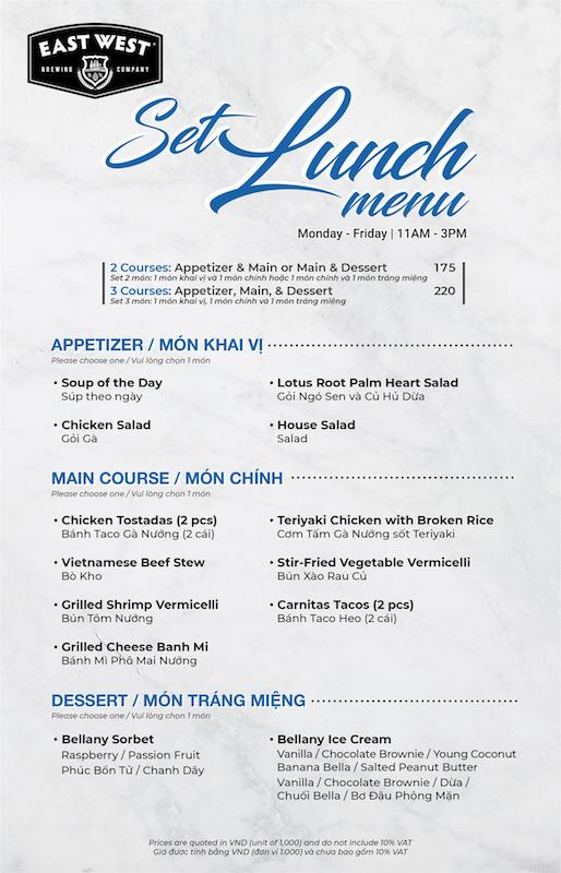 EN_VN Set Lunch Menu