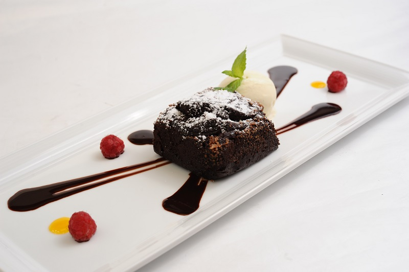 Tortino (Hot chocolate cake, vanilla ice-cream)