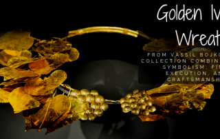 Golden Ivy Wreath