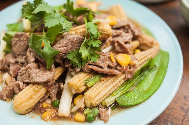 Oi VietNam - Ngoc Chau Garden Restaurant - stir-fried beef - November 2018 - IMG_2181
