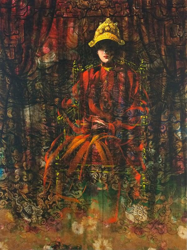Nguyen Minh Nam_Su Ton Tai Cua Nam Phuong Hoang Hau_Empress Nam Phuong_2018_Oil on canvas_160 x 120 cm
